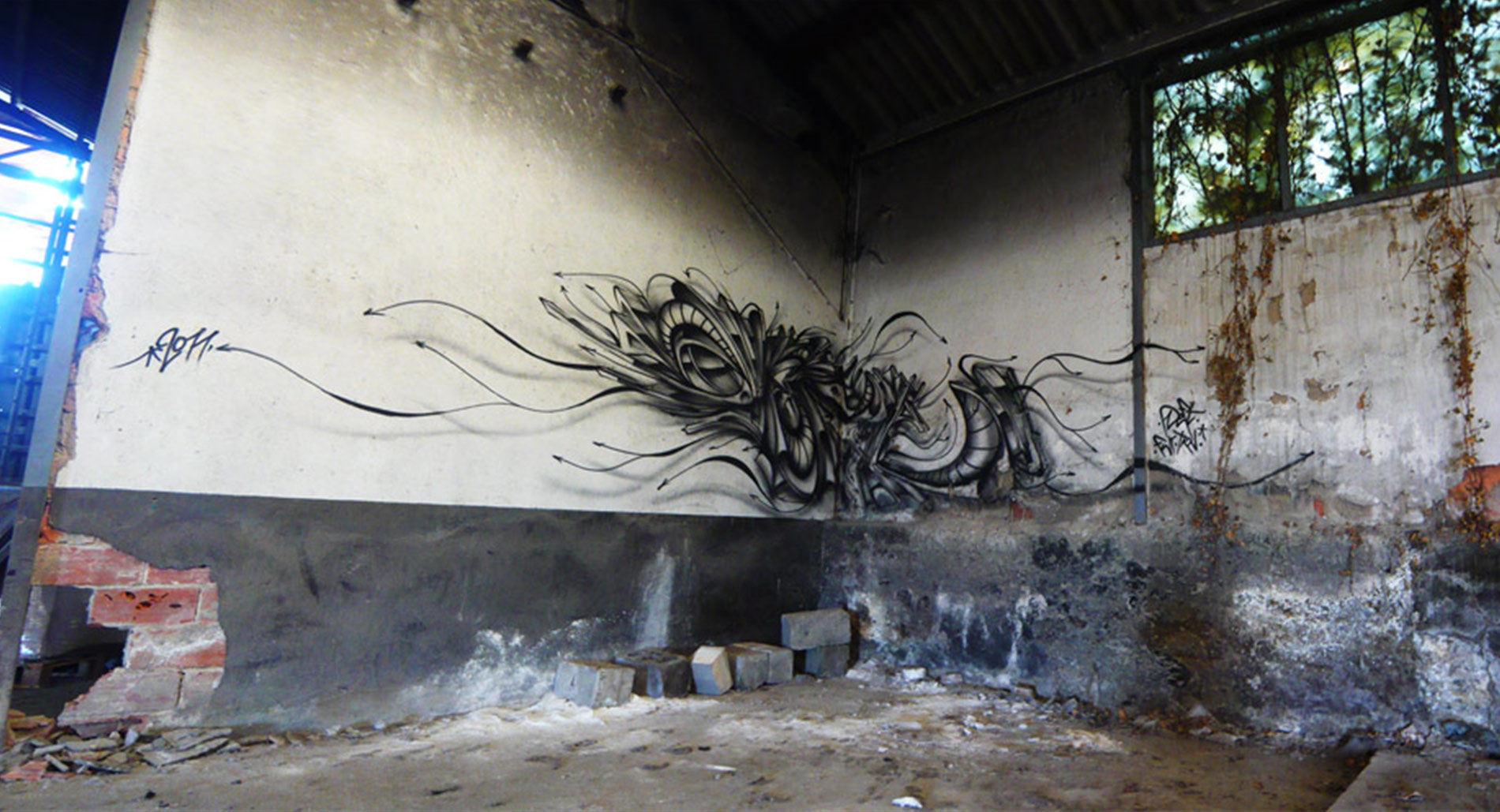 Deft - Tracé Direct - Pont Du Chateau - Graffiti