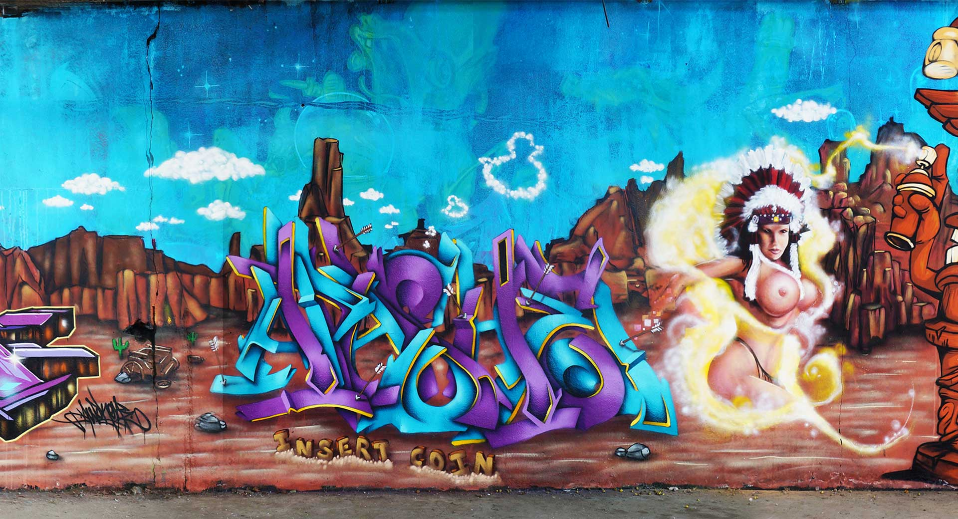 Insert Coin - Graffiti