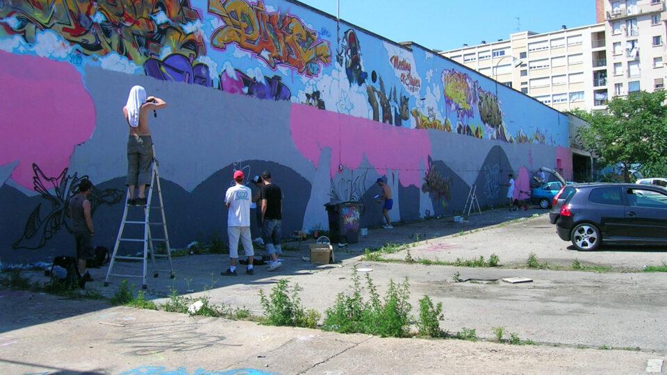 Fresque Lyon Rvi Graffiti