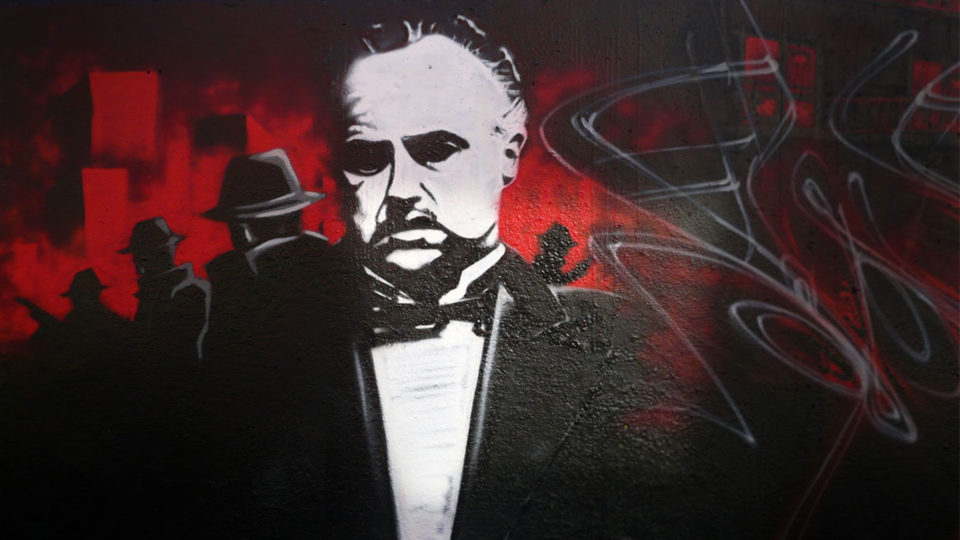 Le Parrain Graffiti, the god father street art