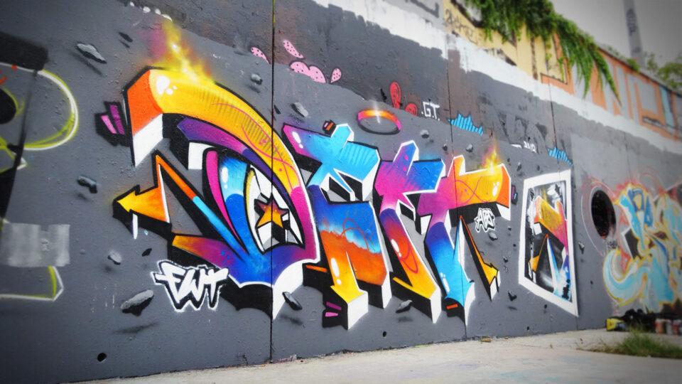 Lettrage Graffiti réalisé par Deft à Montpellier