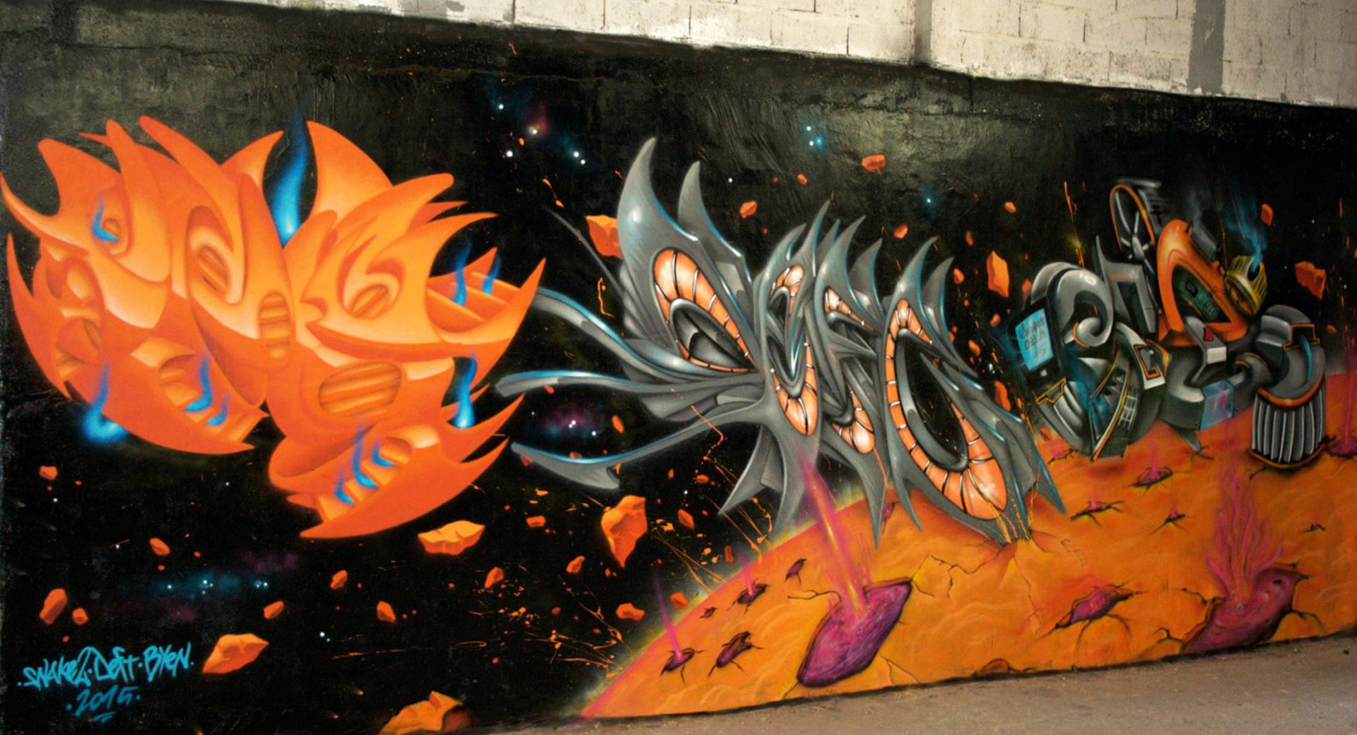 Graffiti Snake2 Byen Deft