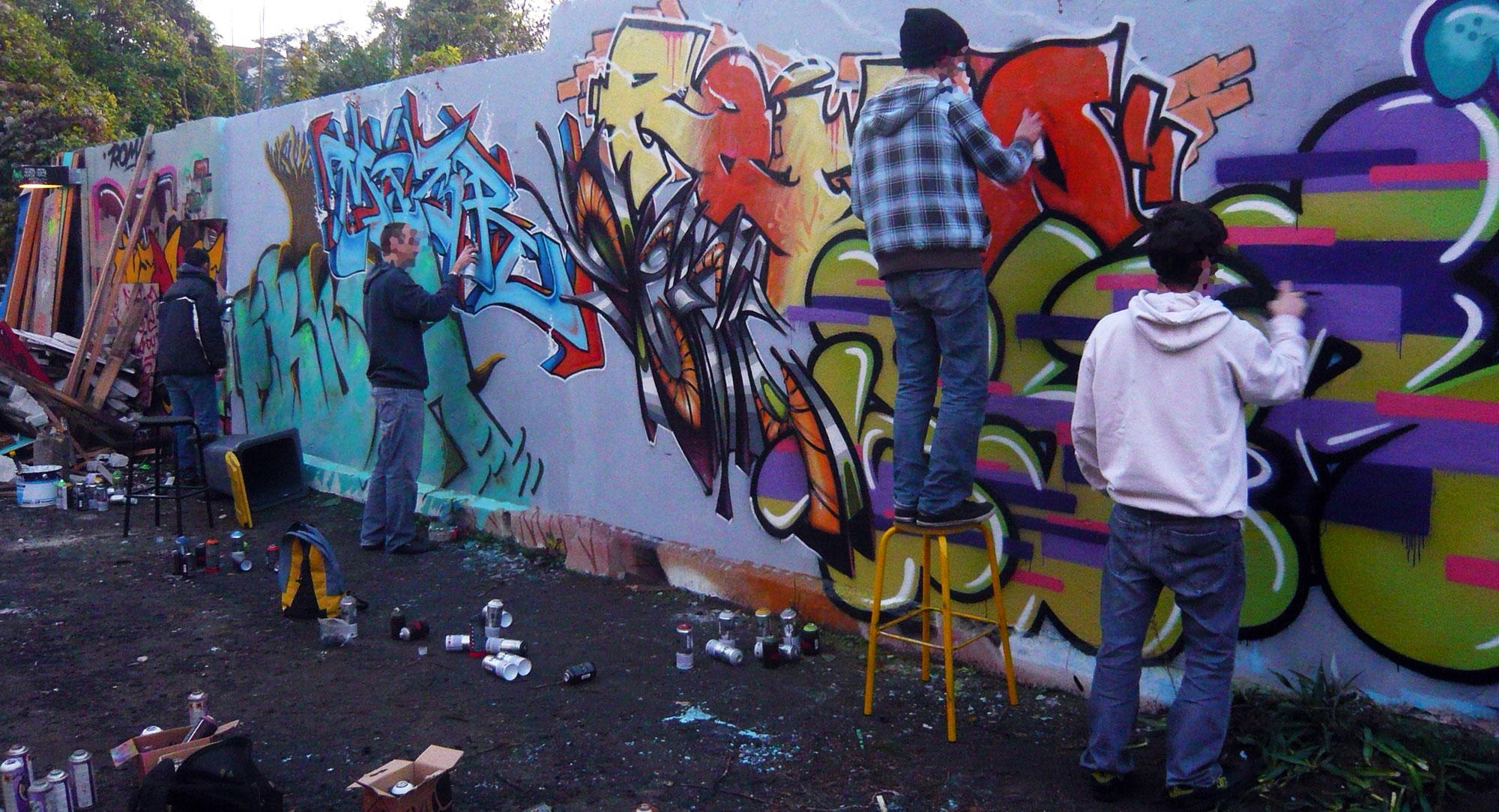 Fresque Touz - Graffiti