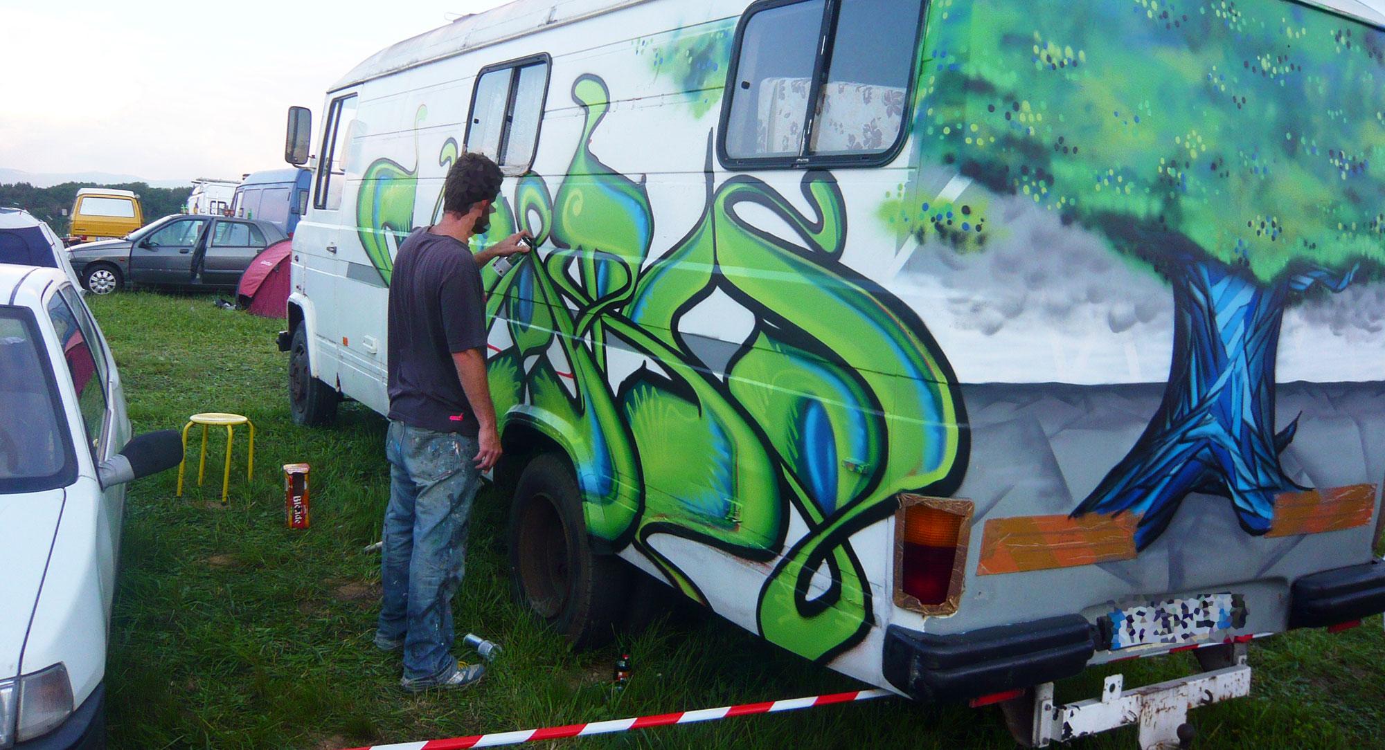 Waro & Epok - Graffiti sur Camion
