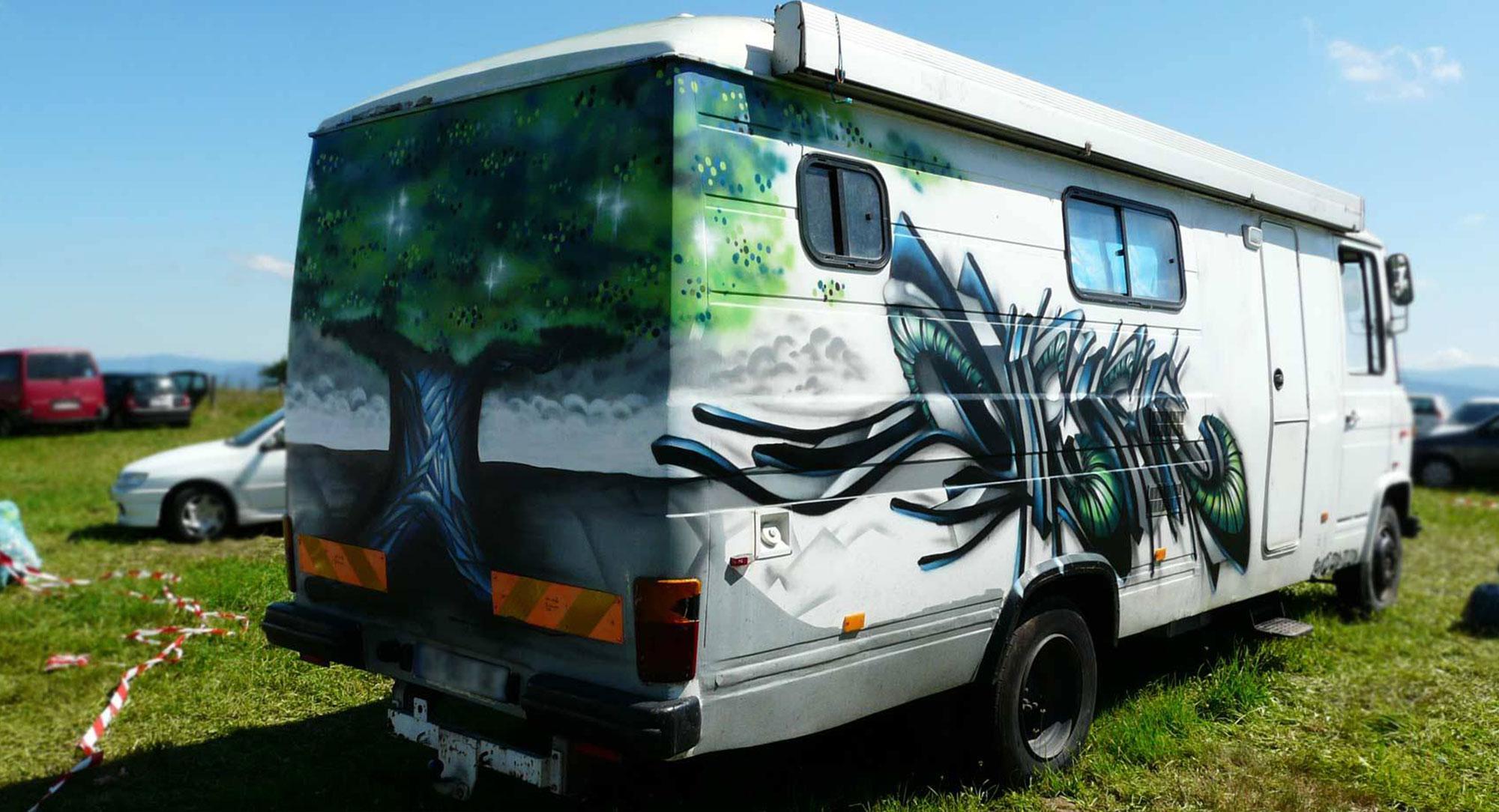 Deft & Epok - Graffiti sur Camion