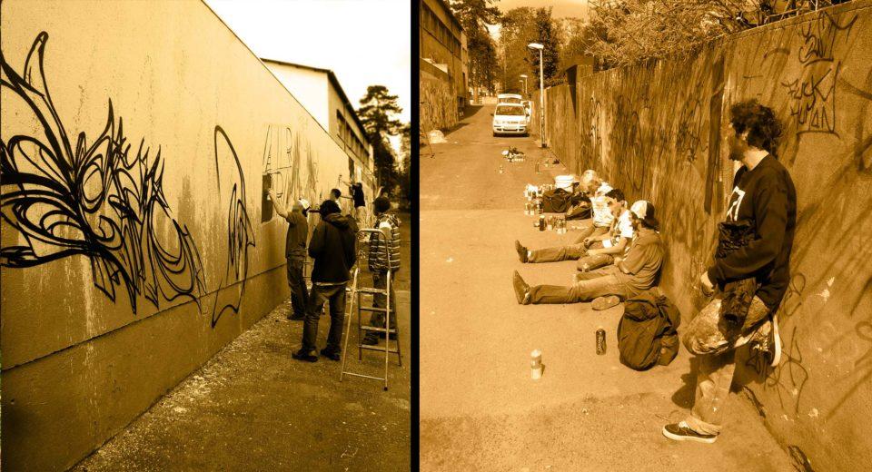 Fresque Graffiti - Riom