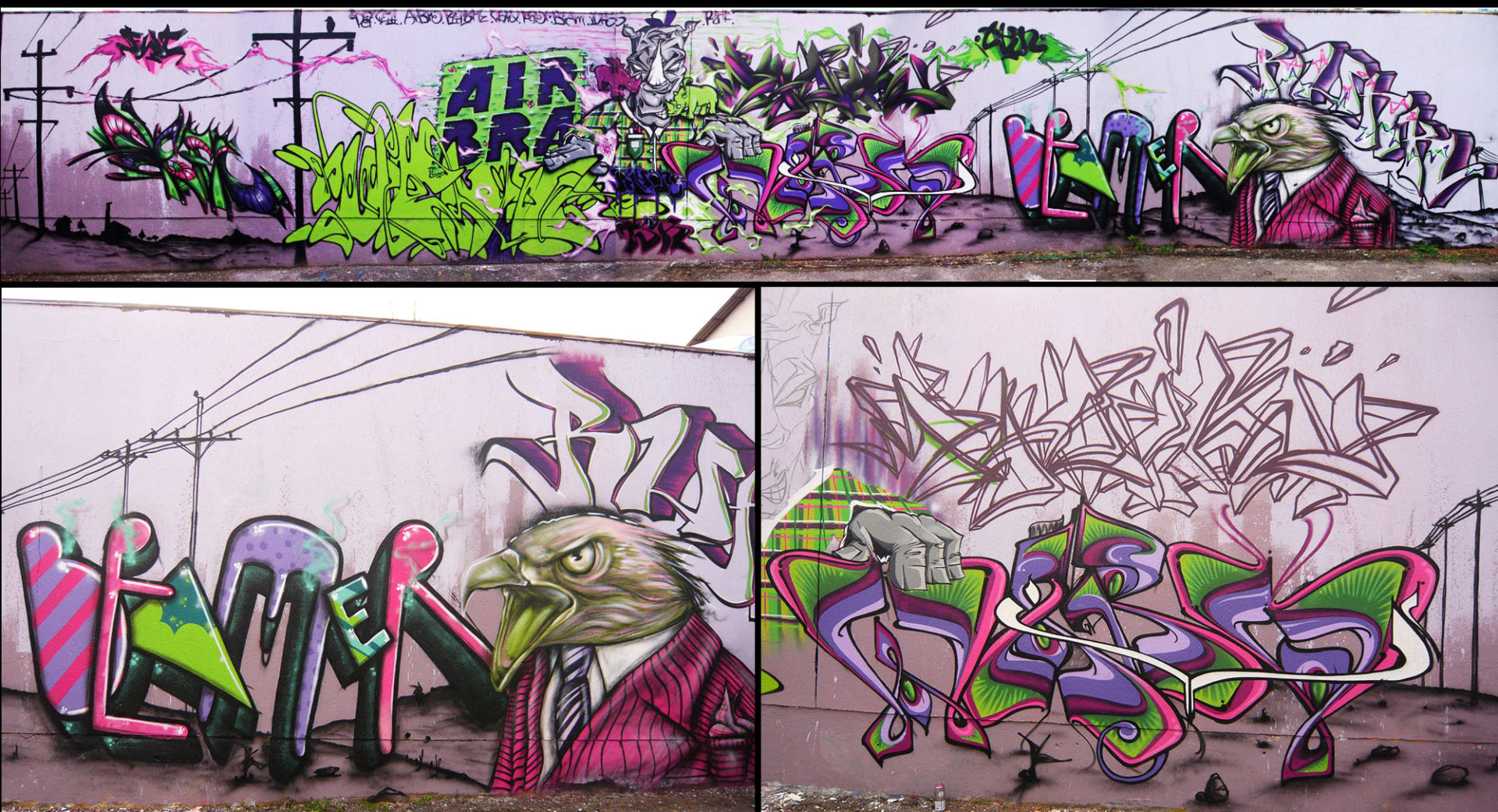 Fresque Graffiti - Riom