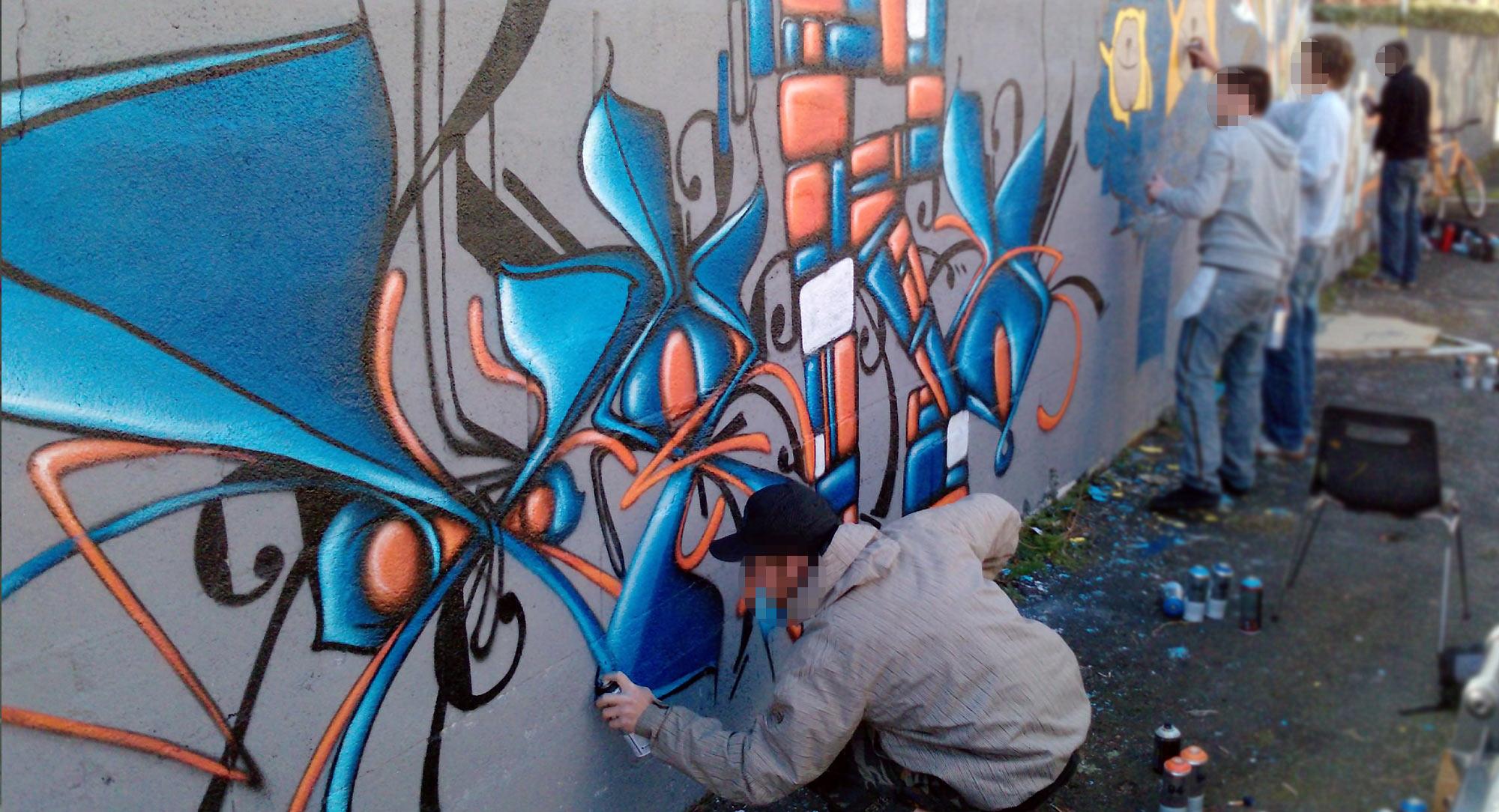 Waro - Graffiti - ENSACF - Clermont-Ferrand