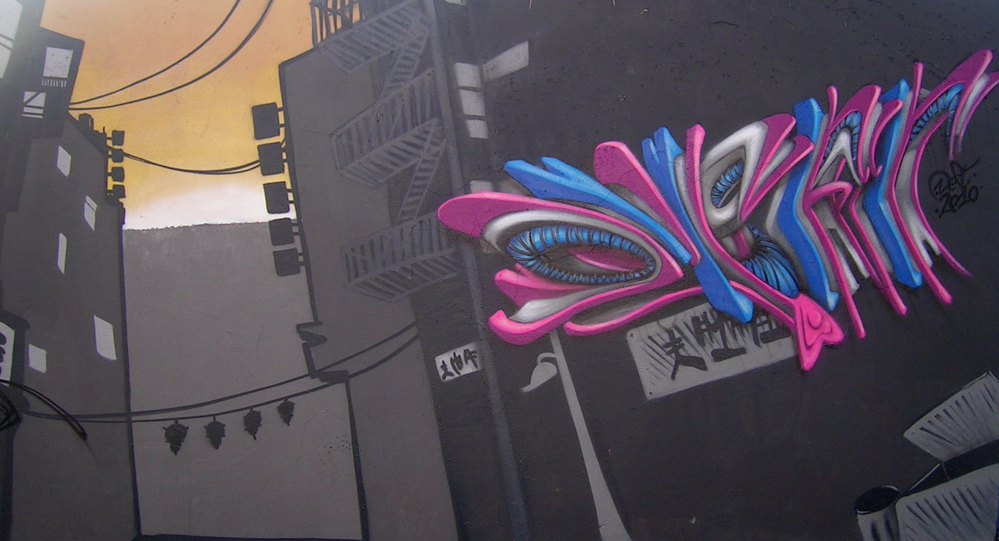 Deft - Fresque China Town - Graffiti