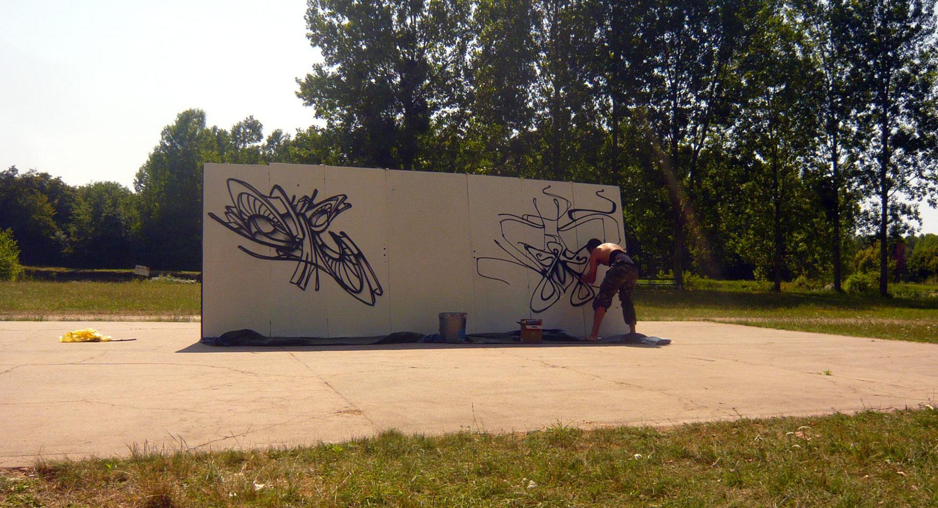 Waro & Deft  - palluau sur indre - Graffiti