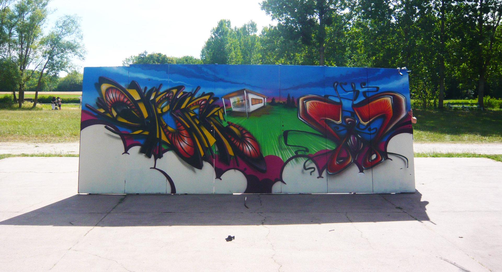Waro & Deft  - palluau sur indre - Street Art