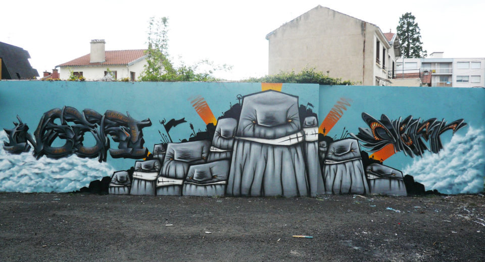 Insert Coin, Waro & Deft - WaroGame - Graffiti