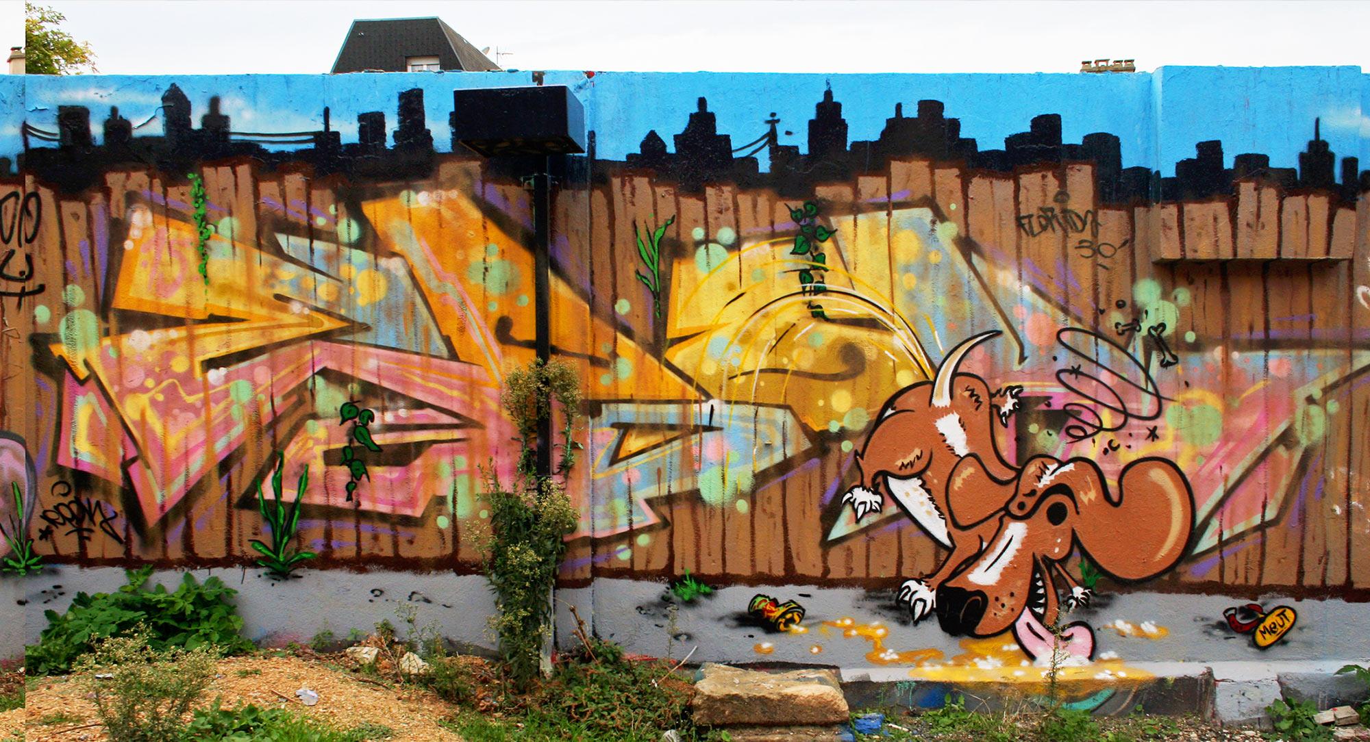 Epok - Fresque Pallissade - Graffiti