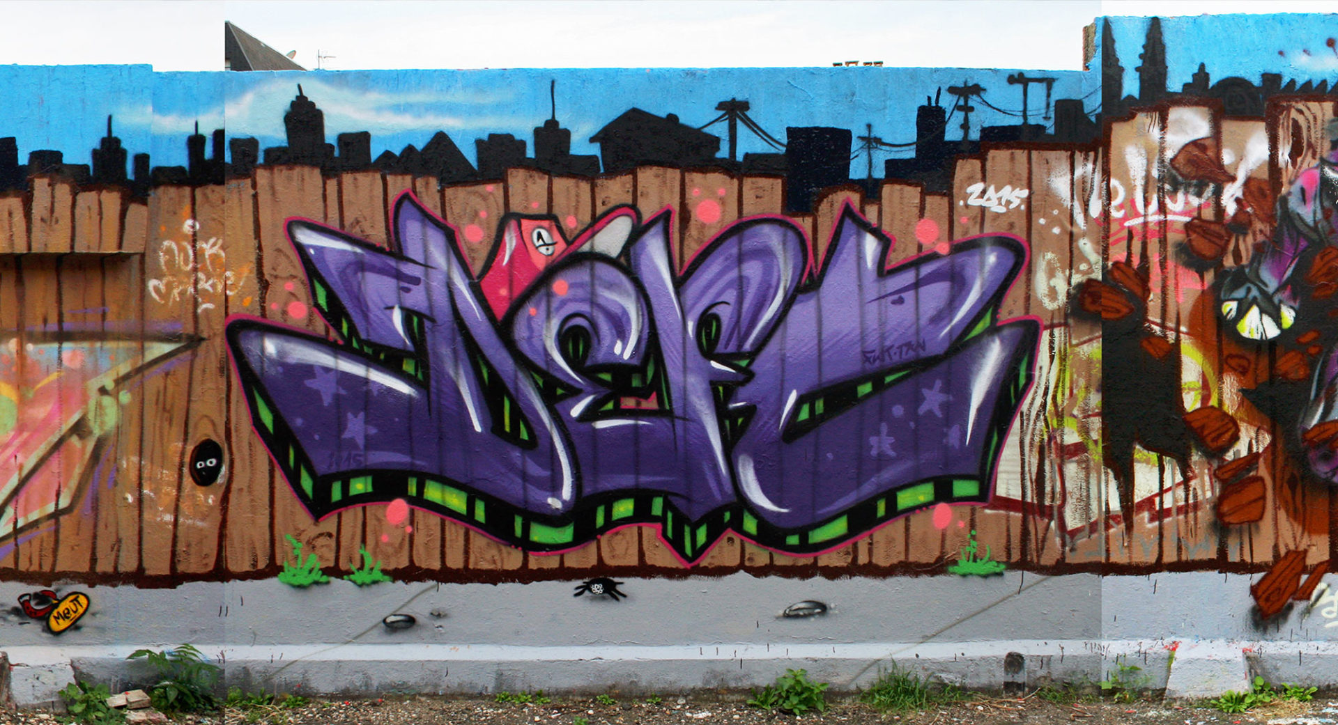 Deft - Fresque Pallissade - Graffiti