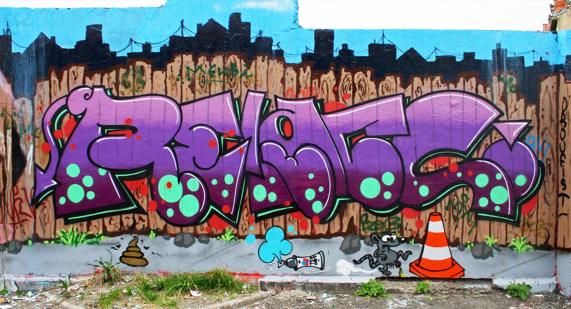 Relacs - Fresque Pallissade - Graffiti