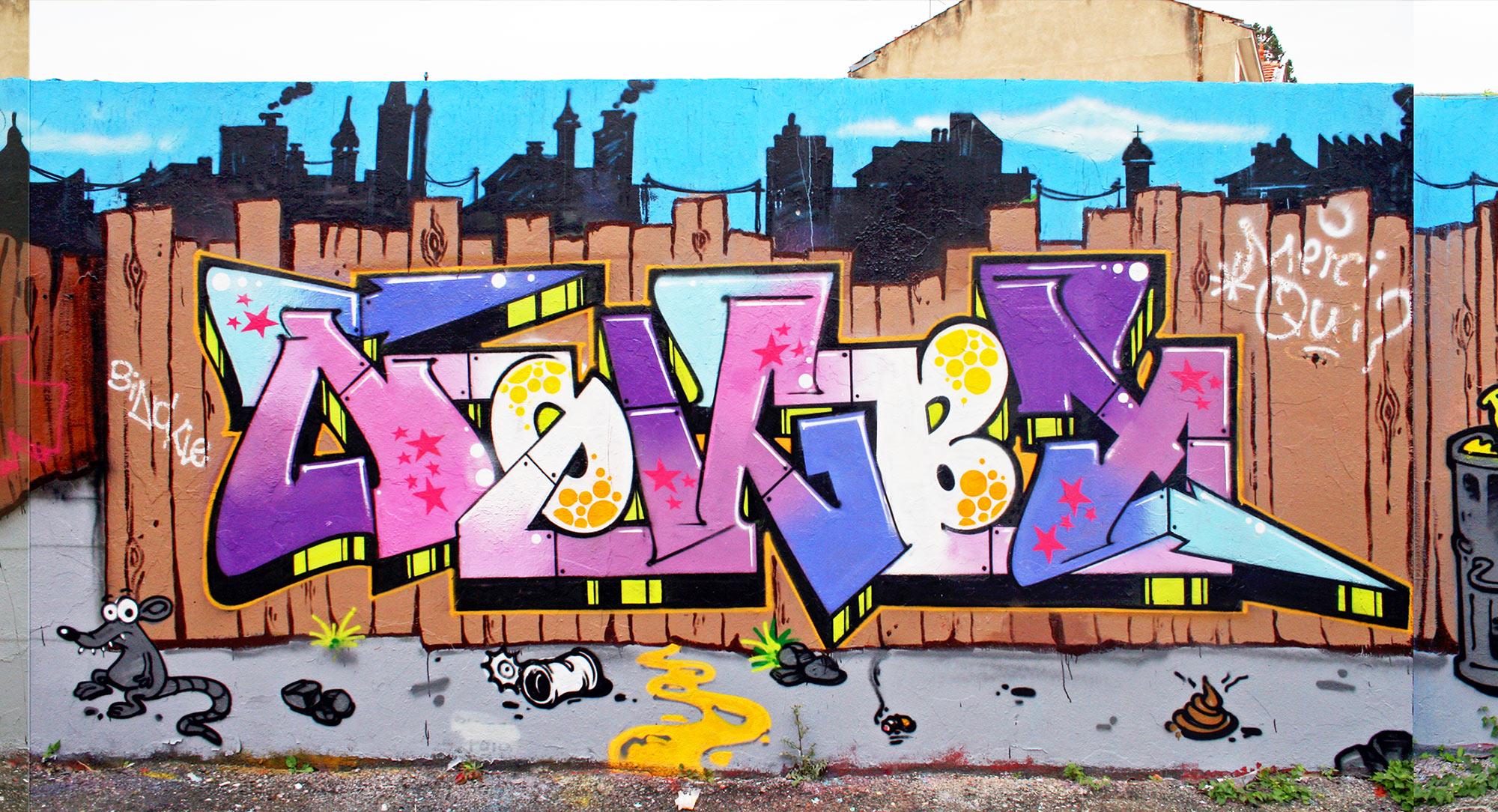 Nokby - Fresque Pallissade - Graffiti