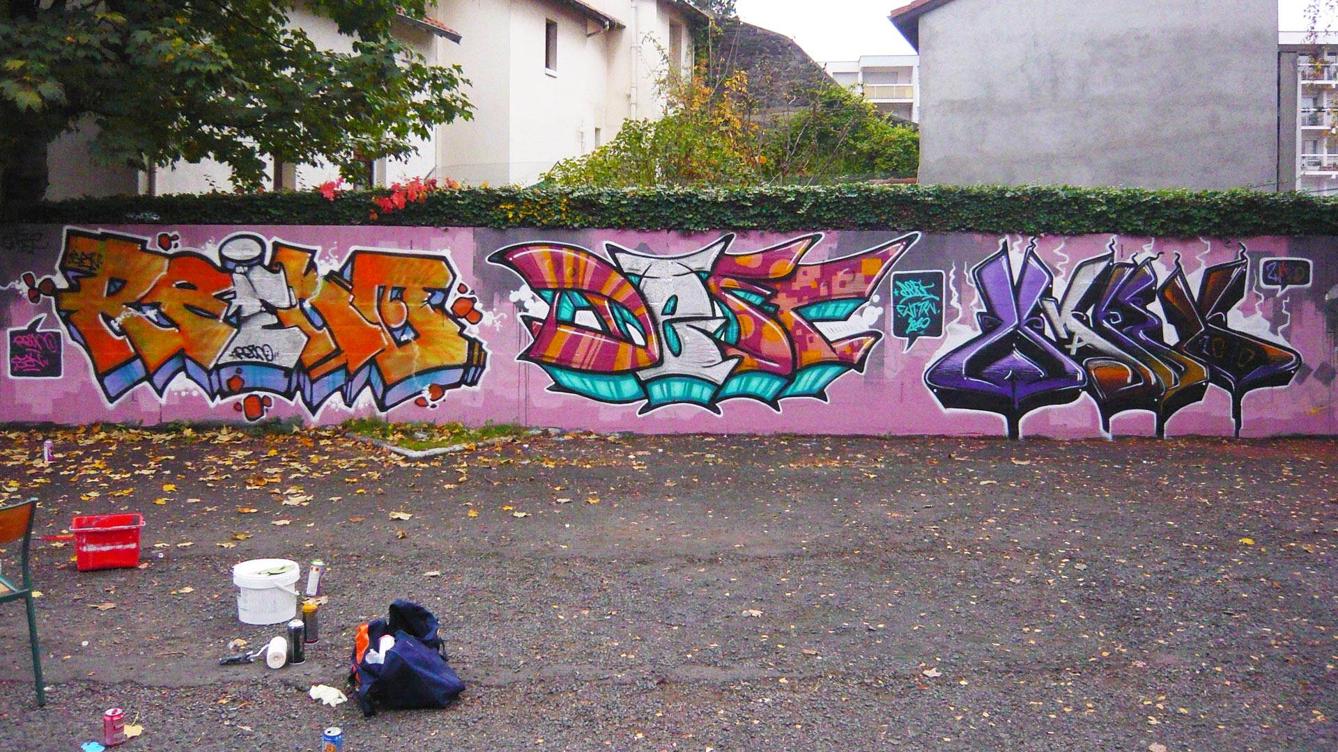 Reino, Deft & Waro - Graffiti - ENSACF