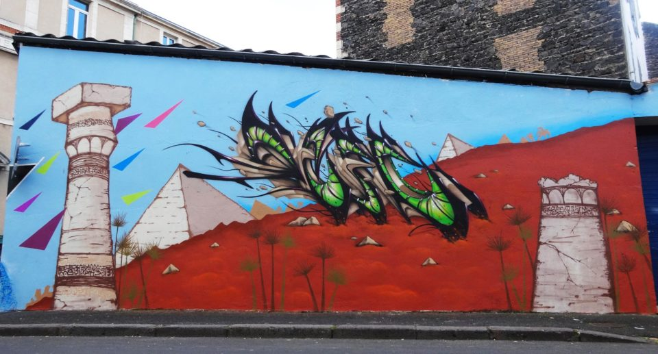 Deft - Fresque Pyramide - Graffiti - Clermont-Ferrand