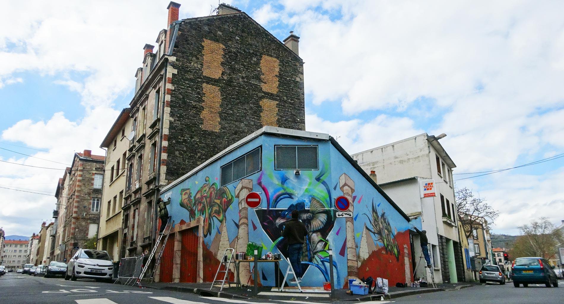 Fresque Pyramide - Graffiti - Clermont-Ferrand