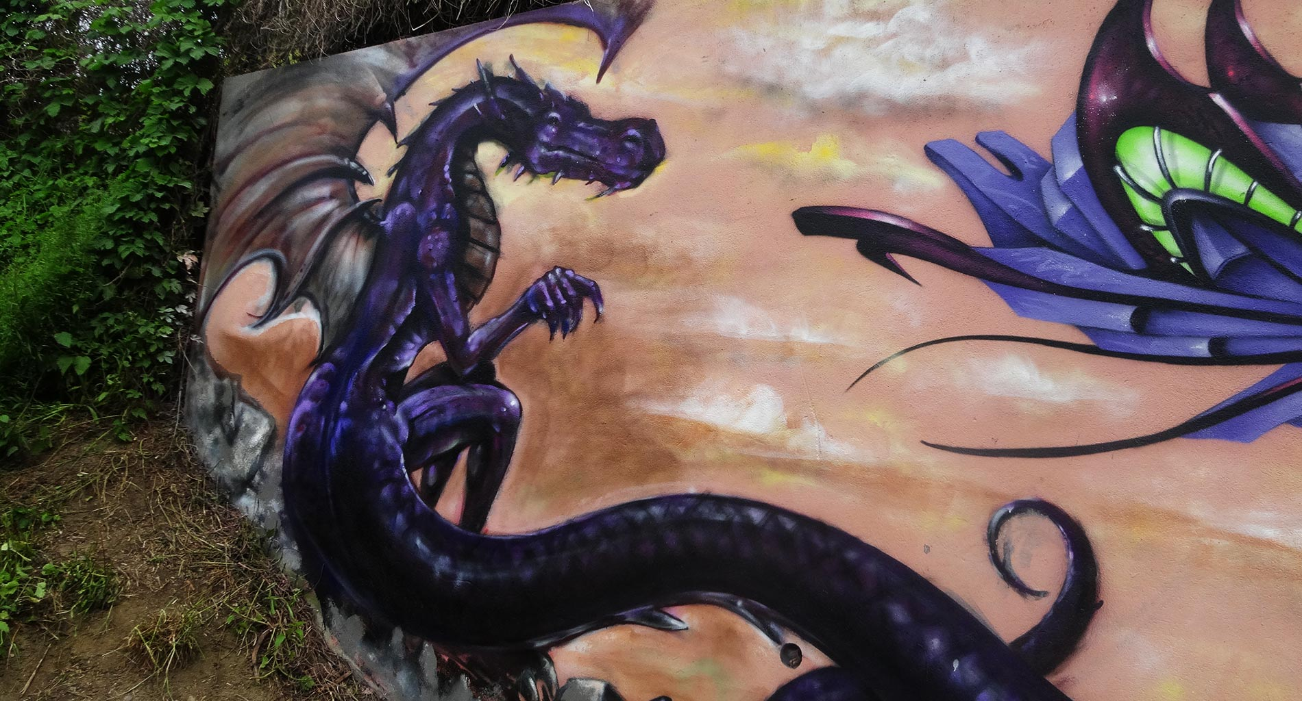Apogé - Fresque Dragon - Graffiti - Clermont-Ferrand