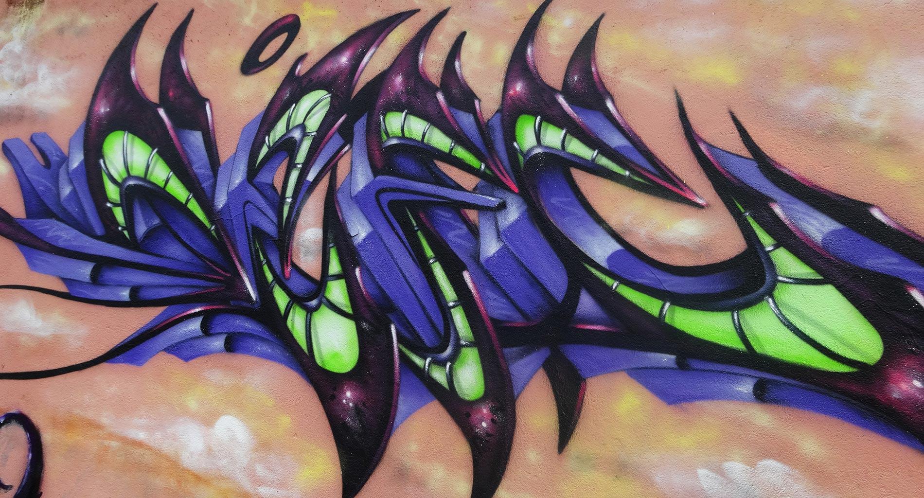 Deft - Fresque Dragon - La Glacière - Clermont-Ferrand - Graffiti