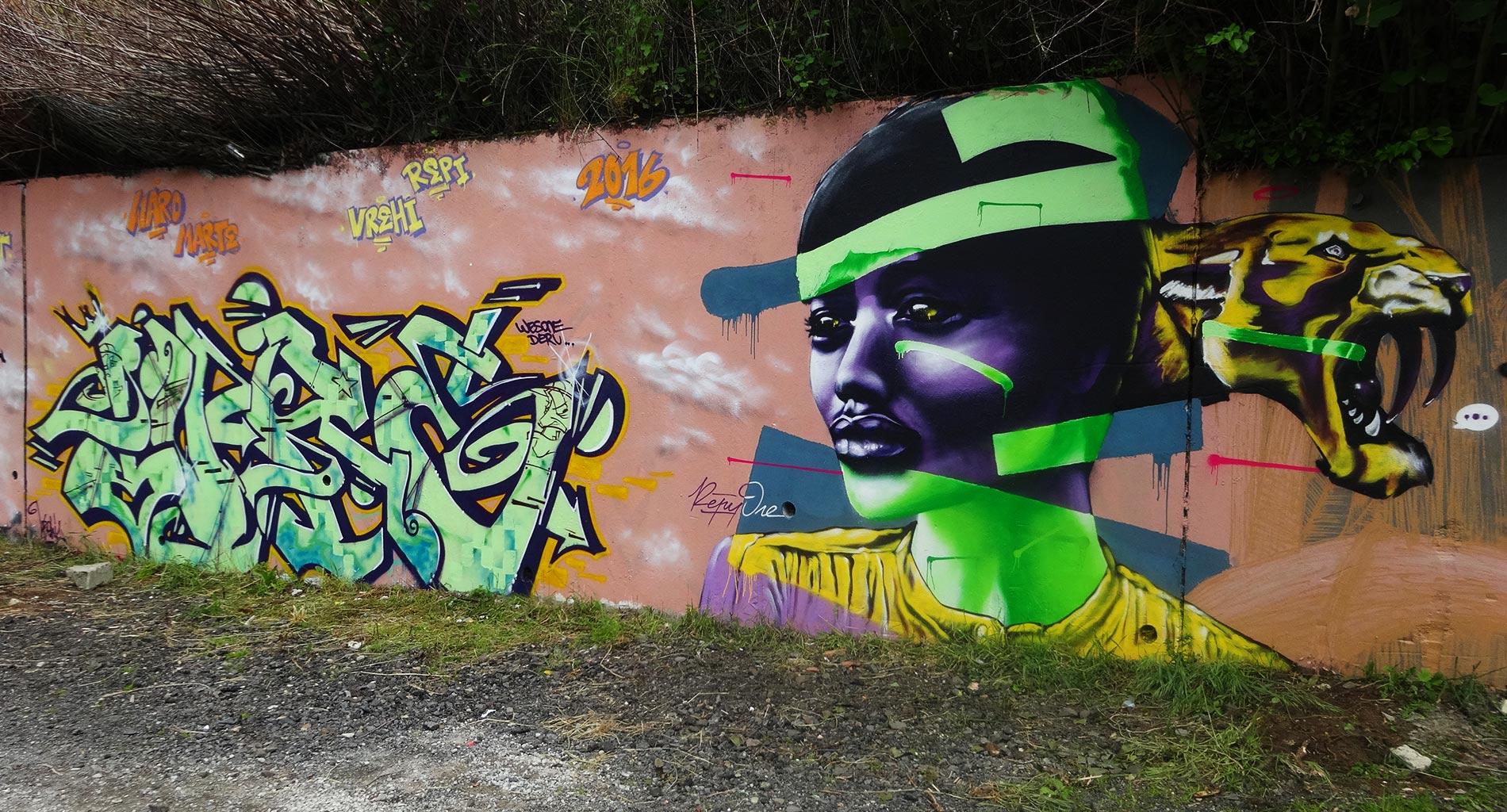 Ivre & Repy - Graffiti - La Glacière