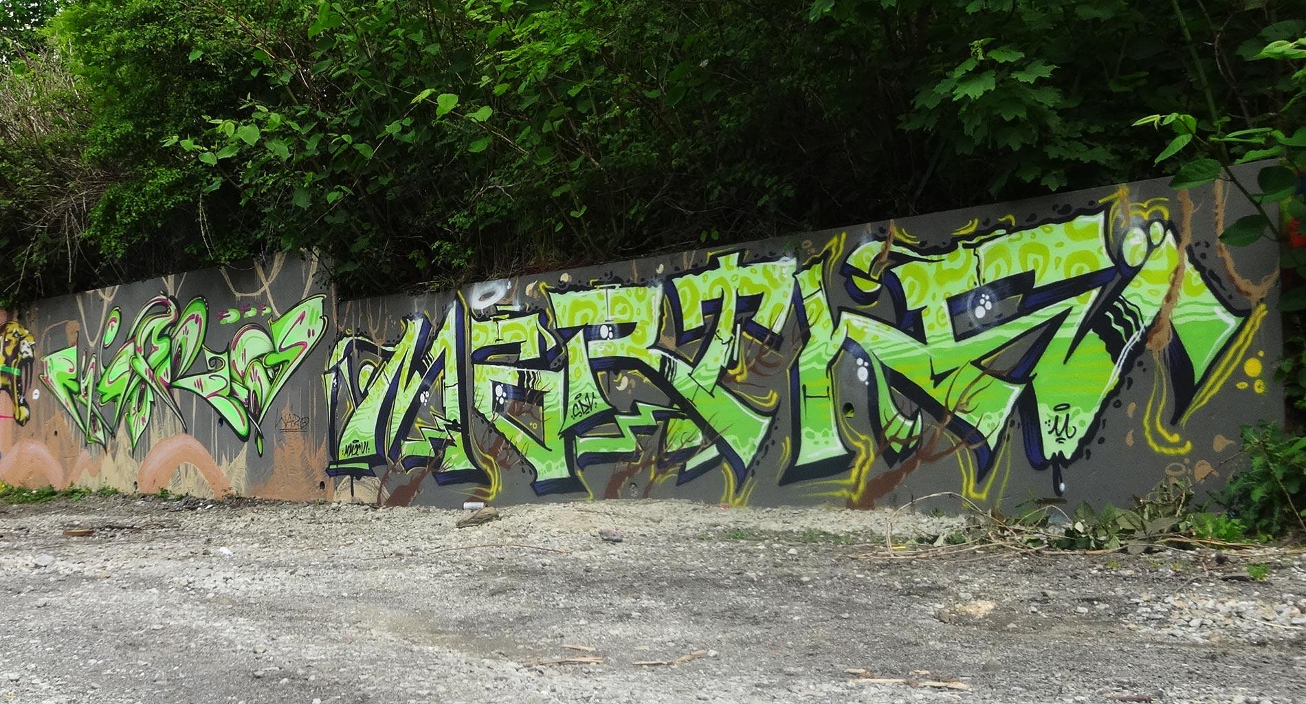 Waro & Marthe - Graffiti - La Glacière