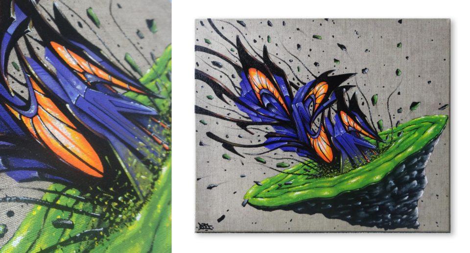 Deft - tableau Intergalactica Vagina - Graffiti