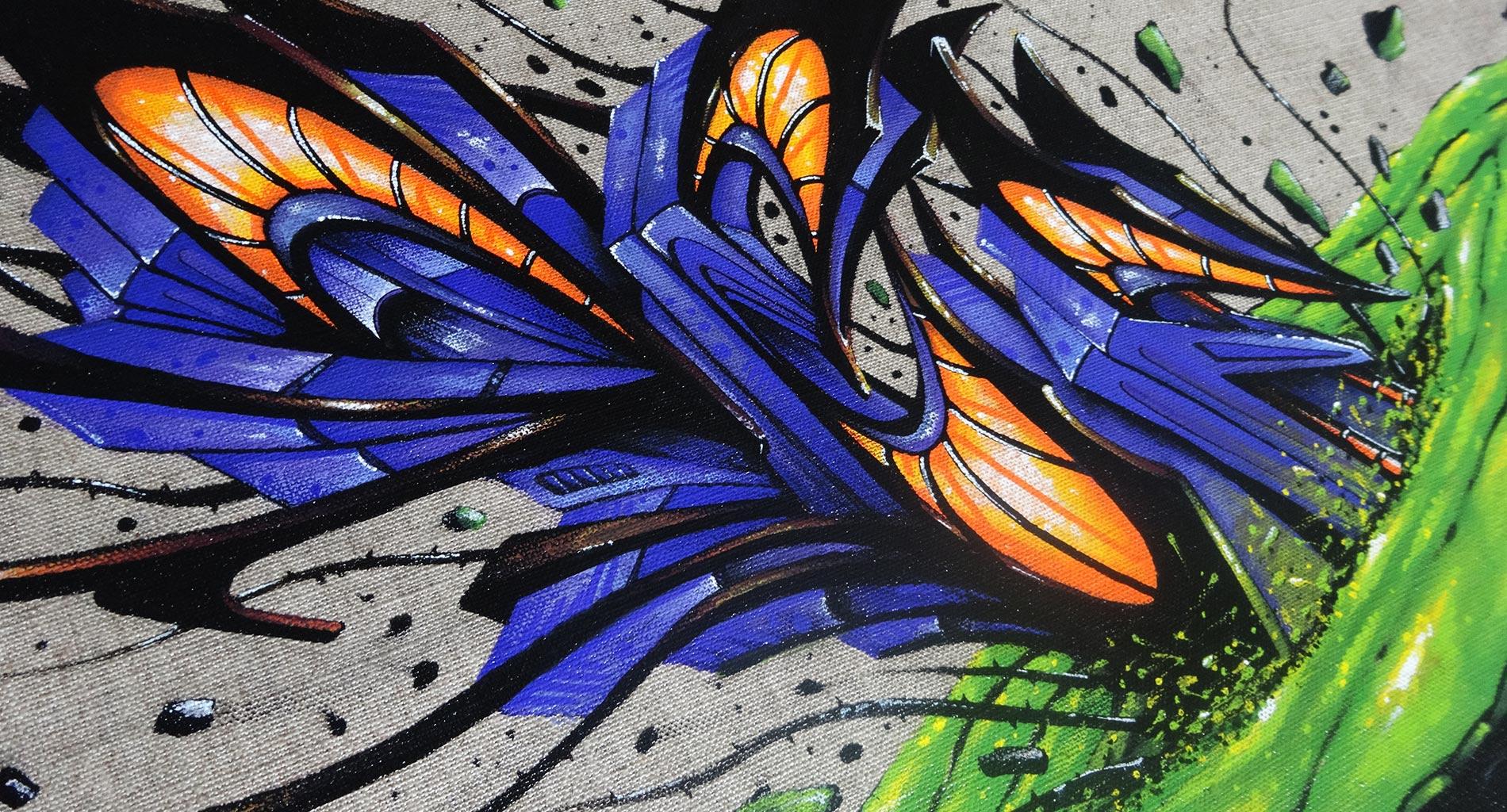 Deft - Détail tableau - Graffiti