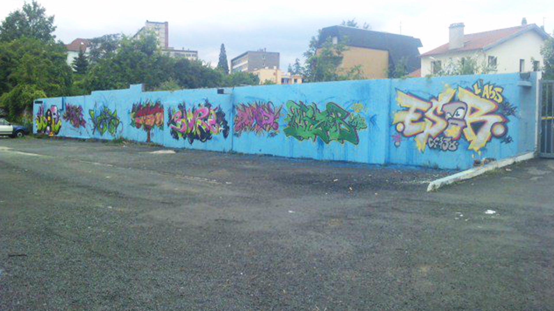 Fresque Graffiti - Clermont-Ferrand  - ENSACF