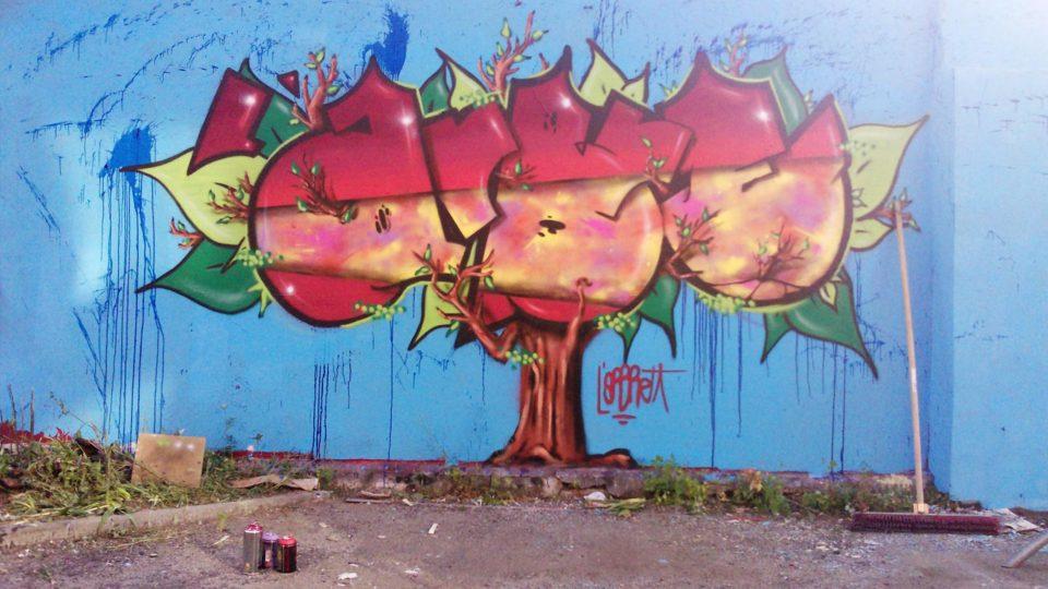 L'Arbre - Graffiti - Clermont-Ferrand  - ENSACF