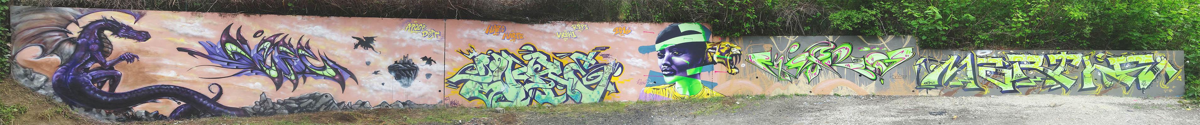 Fresque graffiti - La Glacière - Clermont-Ferrand - Graffiti