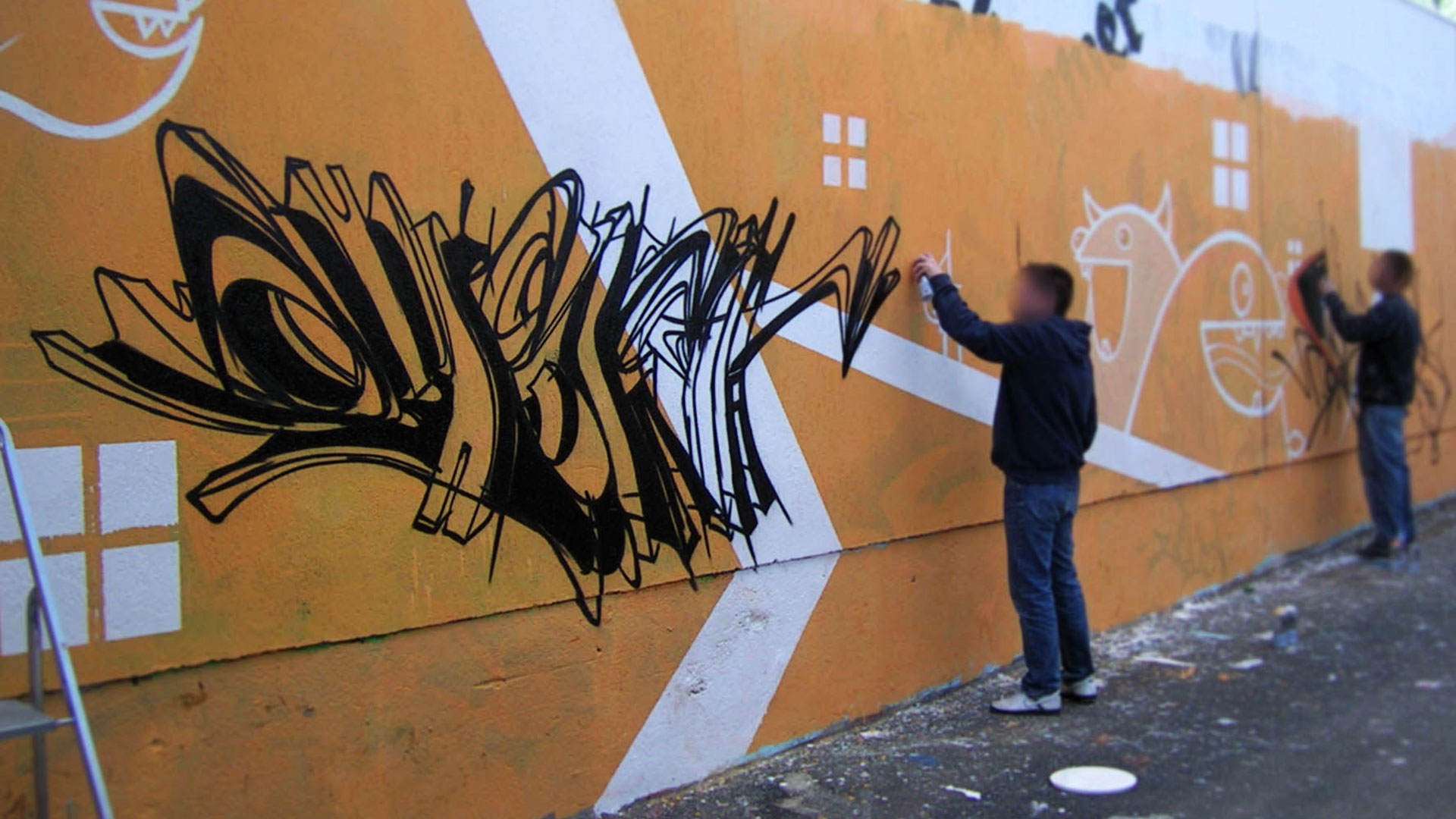 Deft - Riom - Graffiti - Mur de la piscine