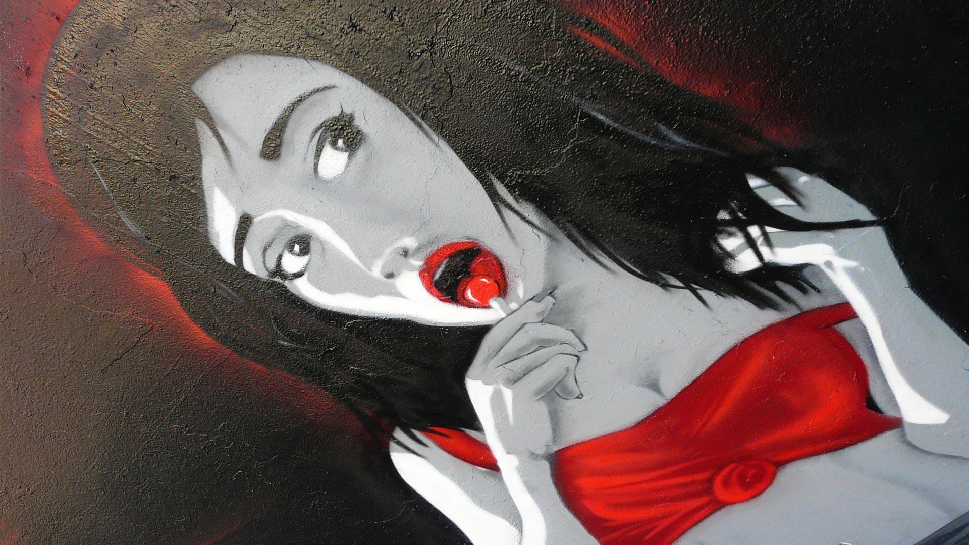 Deft - Fresque Mafiosa - Le Parrain - Graffiti