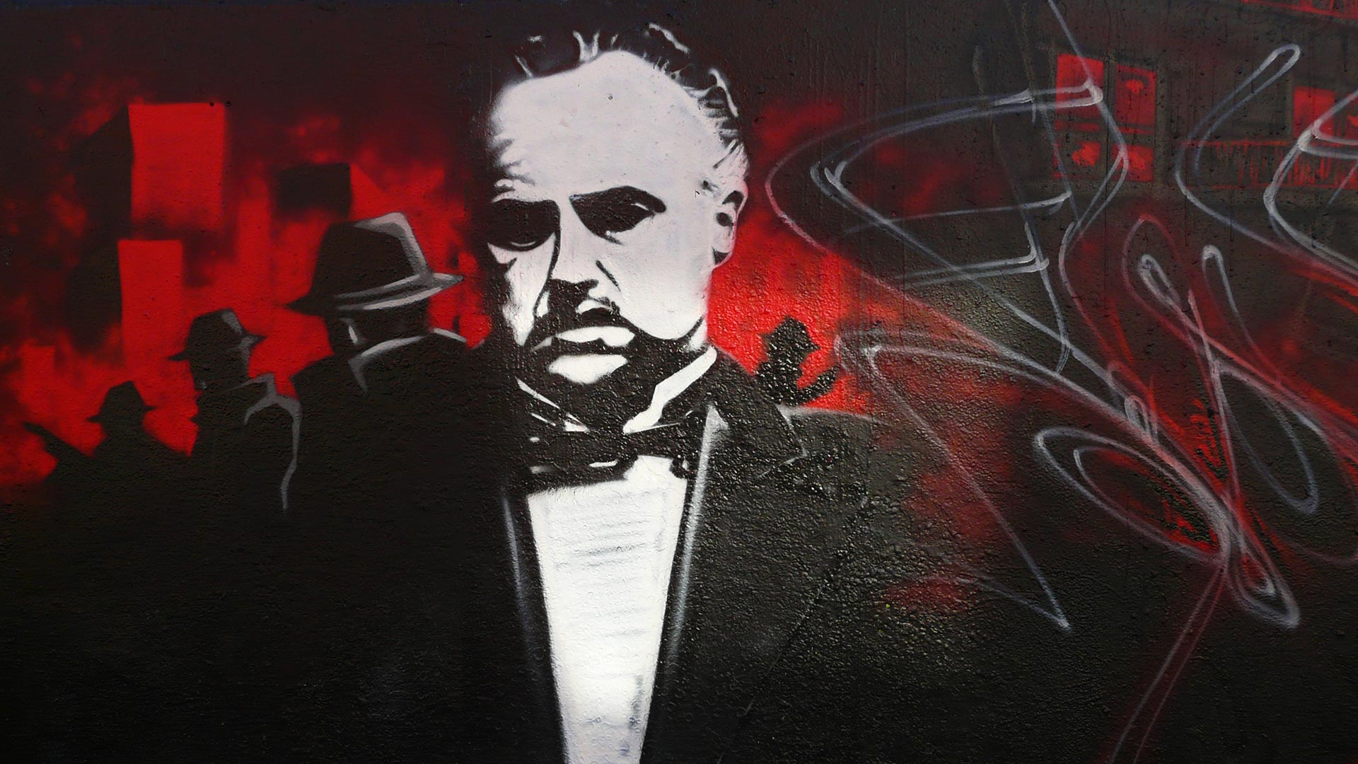 Epok - Fresque Mafiosa - Le Parrain - Graffiti