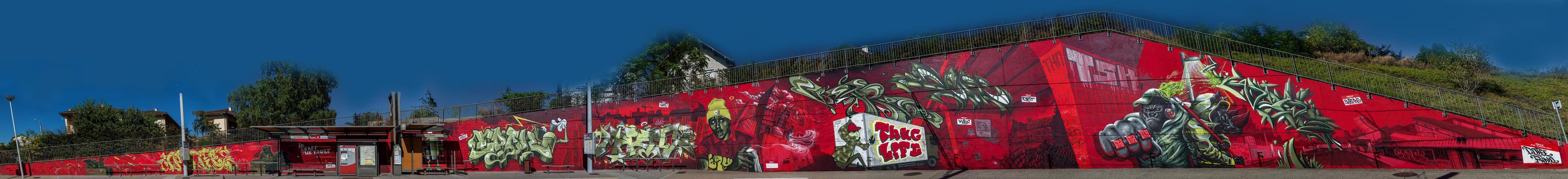Cofee, Waro, Rino, Epok, Marthe, Repi, Kaer, Apogé et Deft - Graffiti - Clermont-Ferrand