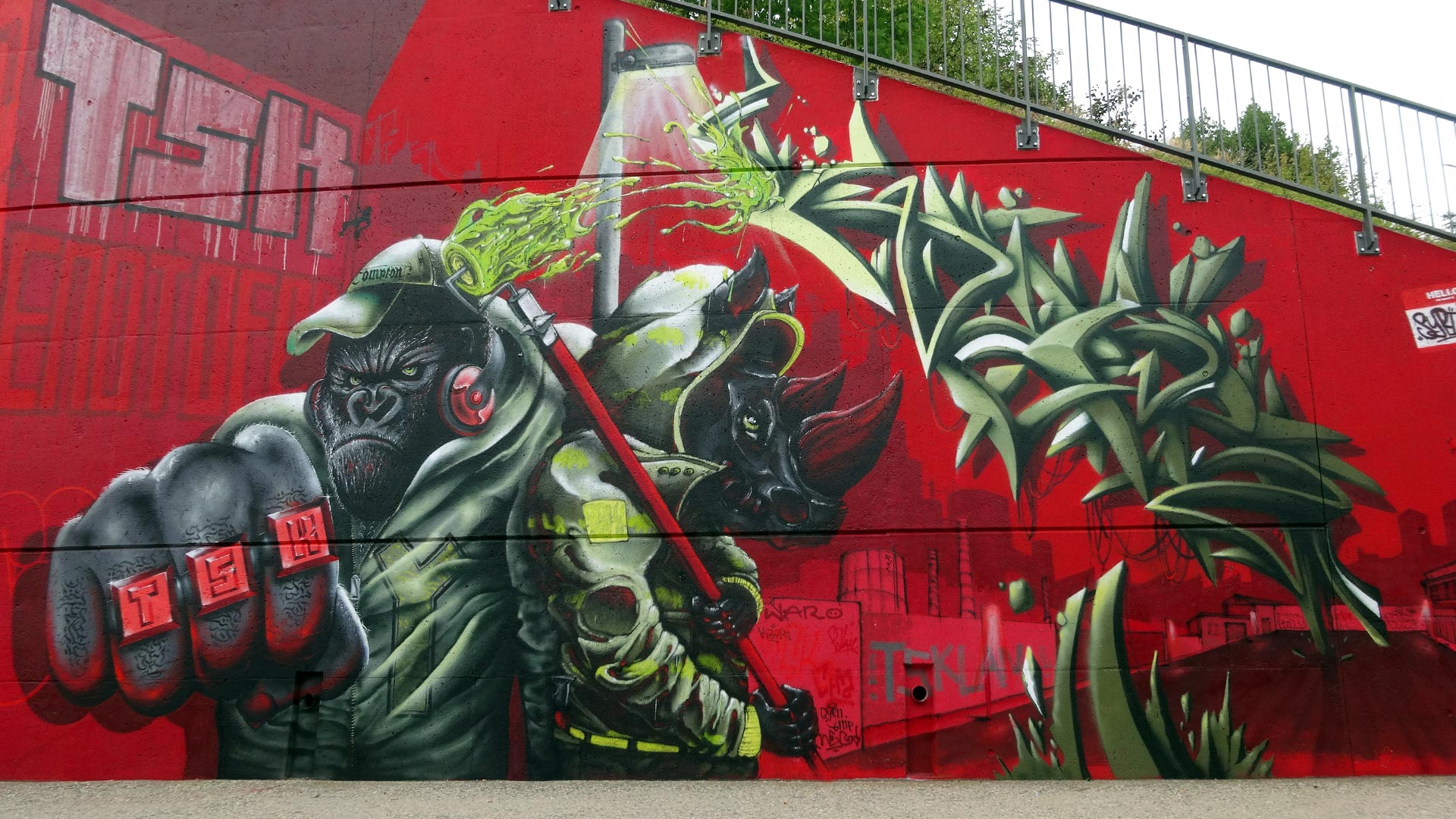 Coffe, Rino & Kaer - Clermont Urban Graff - Trans'urbaines - Clermont-Ferrand