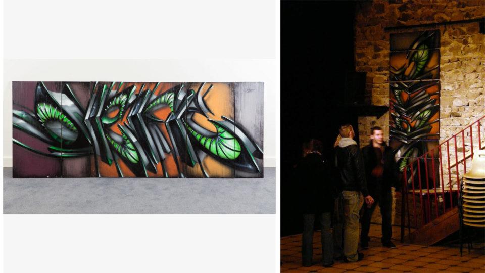 Deft - Assemblage de toile - Tableau Graffiti