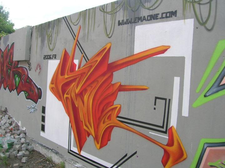EMA - Fresque Jungle - Graffiti - Clermont-Ferrand