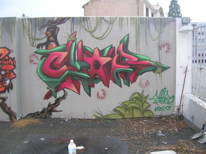 Chour2 - Fresque Jungle - Graffiti - Clermont-Ferrand