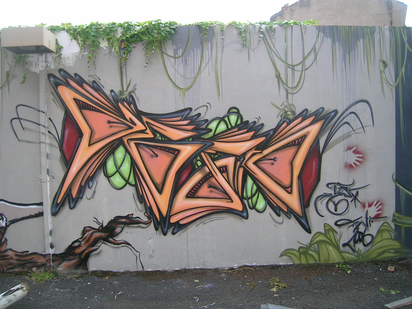 Deft - Fresque Jungle - Graffiti - Clermont-Ferrand
