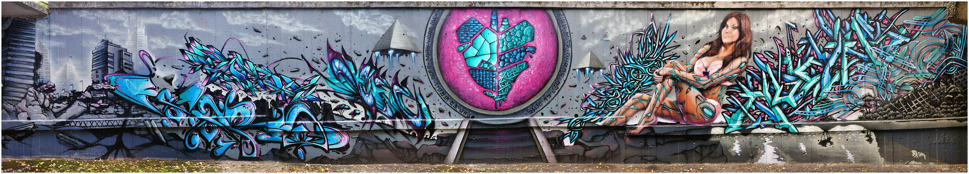 Fresque Stargate - Toulouse - Graffiti