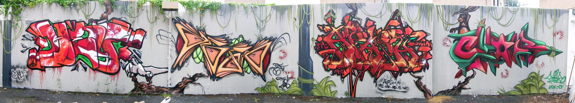 Fresque Jungle - Graffiti - Clermont-Ferrand