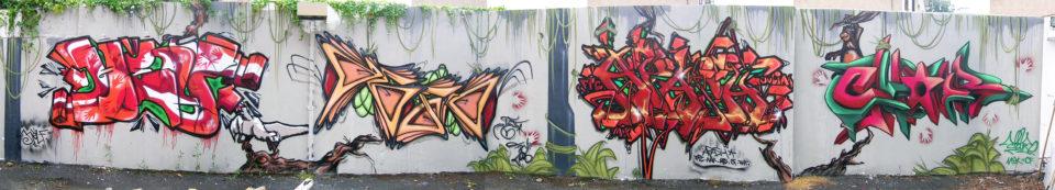 Fresque Jungle - Graffiti - Clermont-Ferrand