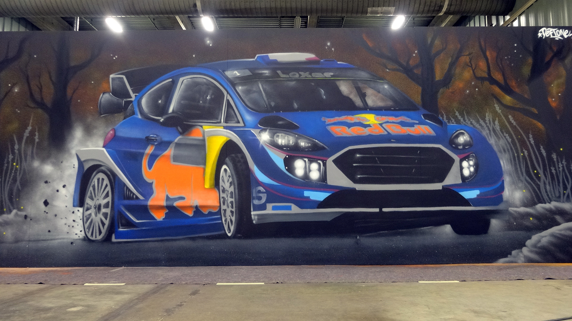 Ford Fiesta - WRC - Michelin - Graffiti - Street-Art