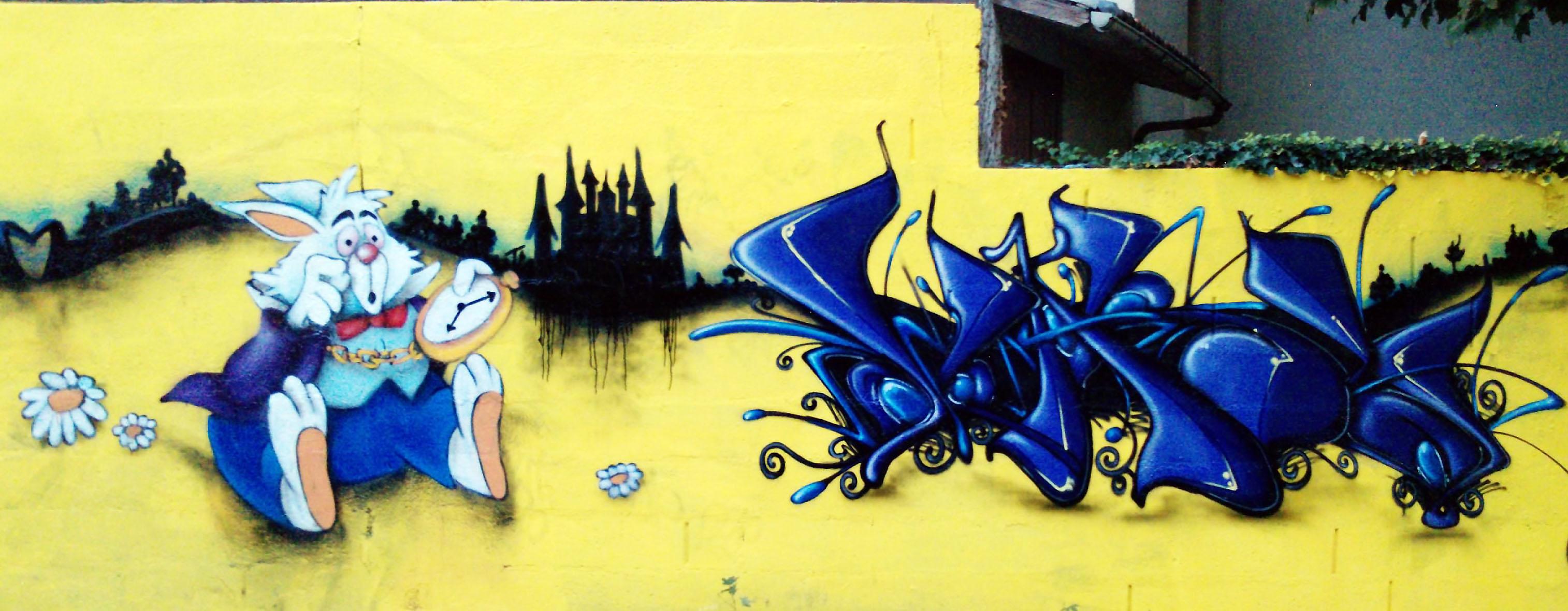 Alice aux pays des merveilles - graffiti
