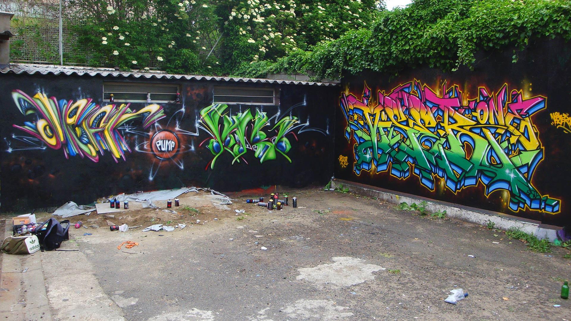 Deft, Waro & Vizer - Graffiti