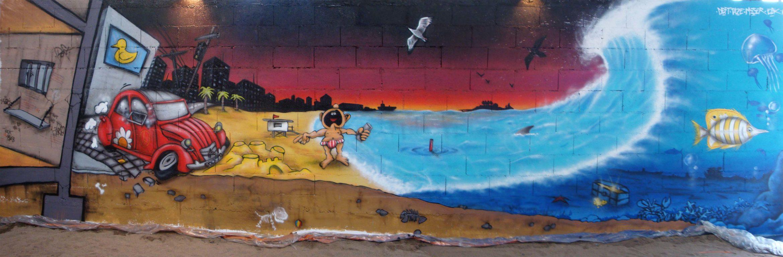 Fresque Theme Plage - ENSACF