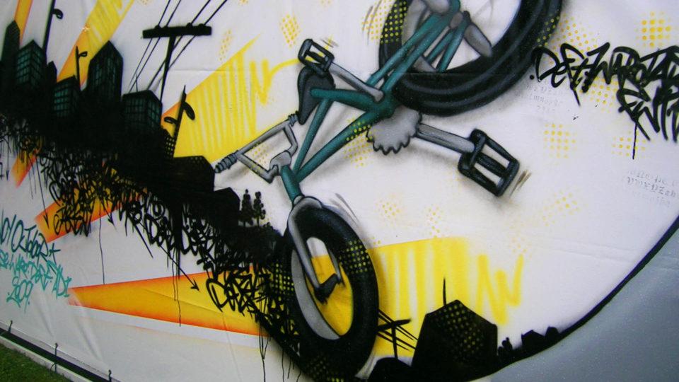 Fresque BMX - Sancy Outdoor - La bourboule