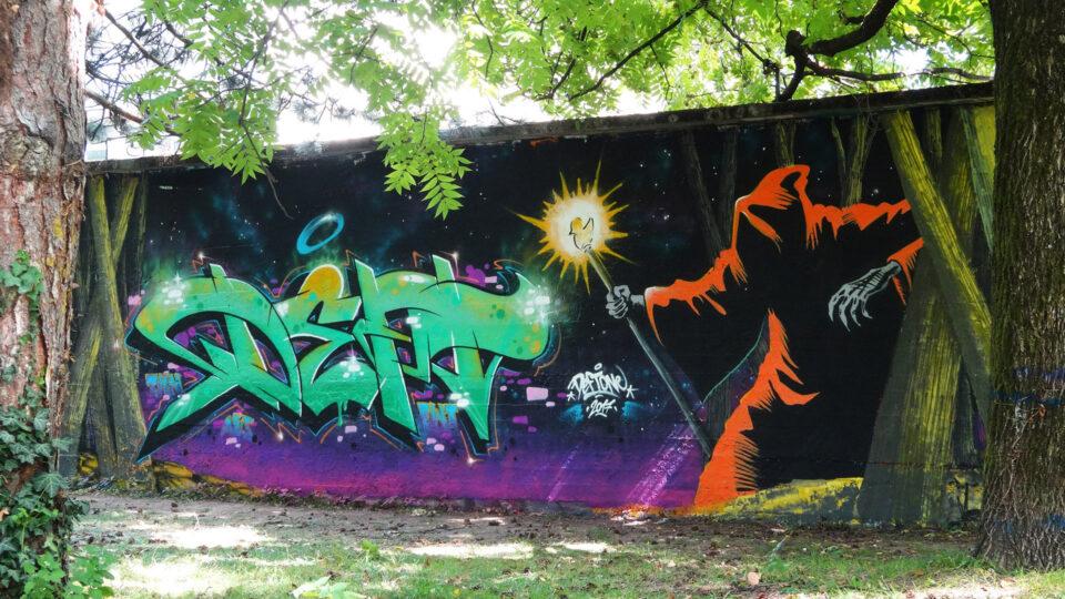 graffiti-chambery-deft-marvel-chevalier-de-l'espace